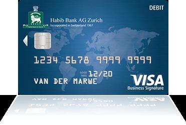 Habib bank ag zurich visa signature business debit card reheart Images
